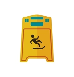 Wet floor road sign prevention warning icon vector