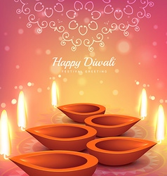Indian diwali festival greeting design background vector