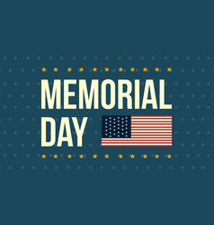 Memorial day theme banner style collection vector