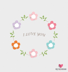 Romantic card spring floral design element vector image