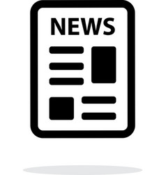 Newspaper icon on white background vector image