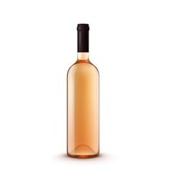 Glass wine bottle vector