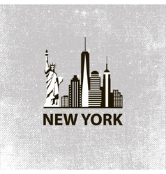 New york city architecture retro black and white vector