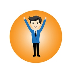 Businessman feel happy vector