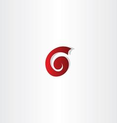Letter g or number 6 six logo vector