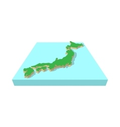 Japanese country map icon cartoon style vector image