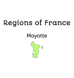 France administrative map of mayotte vector