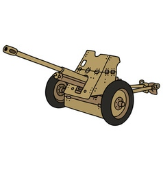 Old sand cannon vector