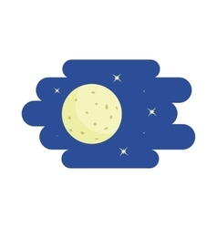 Moon and stars icon cartoon style vector