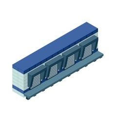 Isometric building vector image