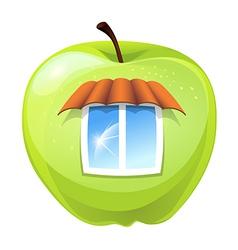 apple hut vector image