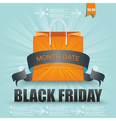 Black Friday sale design Eps10 vector image vector image