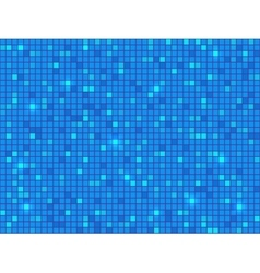 Blue pixel mosaic background vector image