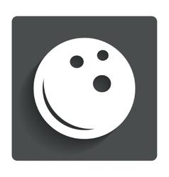 Bowling ball sign icon bowl symbol vector