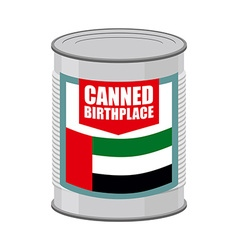 Canned birthplace Patriotic Preserved birthplace vector image