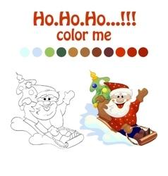 coloring book santa vector image vector image