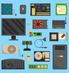 computer symbols set vector image