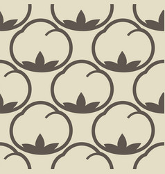 Cotton flower floral seamless pattern background vector