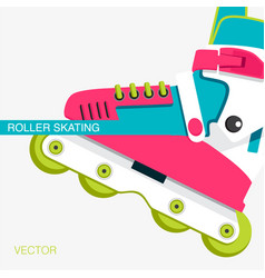 cover or poster on the theme of roller-skating vector image