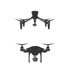 Drone logo design icon technology camera vector