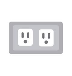 energy socket isolated icon vector image