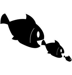 Fish eats fish vector image vector image