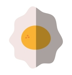 fried egg nutrition breakfast design shadow vector image