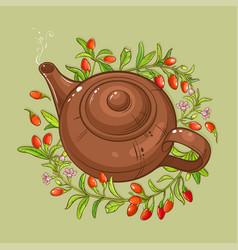 Goji tea vector