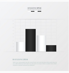 Graph and infographic design black and white vector