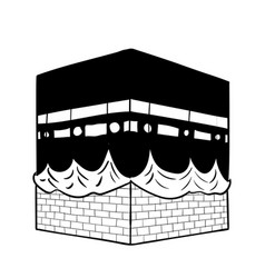 Hand drawing kaaba of mecca - vector