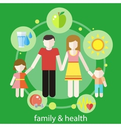 Healthy family concept vector image vector image