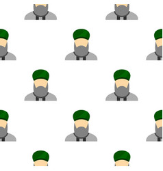 Islamic priest pattern flat vector