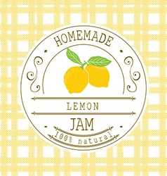 Jam label design template for lemon dessert vector