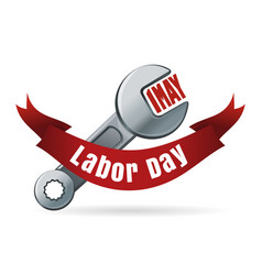 labor day may 1 international workers day vector image