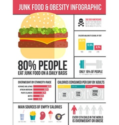 Obesity infographic vector