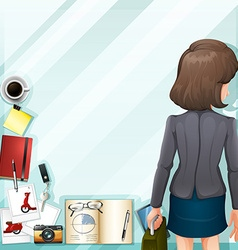 Office worker and other accessories vector image vector image