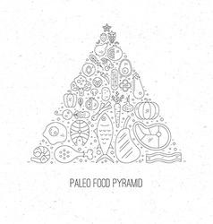 Paleo Pyramid vector image