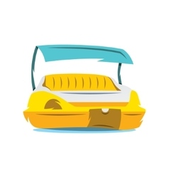 Pedal boat cartoon vector