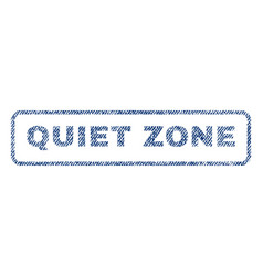 Quiet zone textile stamp vector