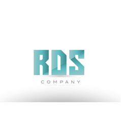 Rds r d s alphabet three 3 letter green logo icon vector