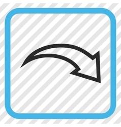 Redo icon in a frame vector