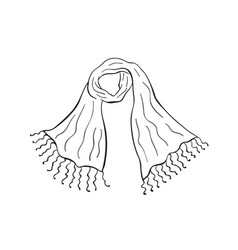 scarf outline icon vector image