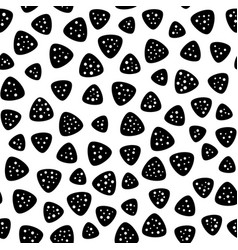 Seamless pattern rounded perforated triangle vector