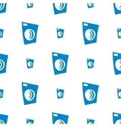 Seamless washing machine pattern vector image