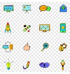 Seo set icons vector
