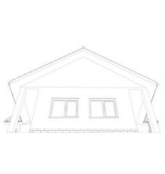 sketch line at home vector image vector image