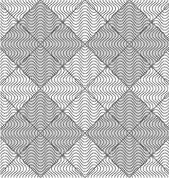 Slim gray wavy striped squares vector image vector image
