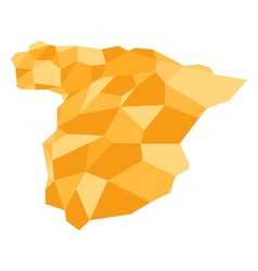 Spain map in low poly vector