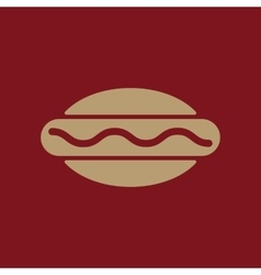 The hot dog icon sandwich and baking fast food vector