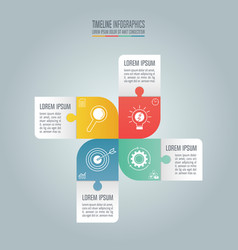 timeline infographic concept with 4 options vector image vector image